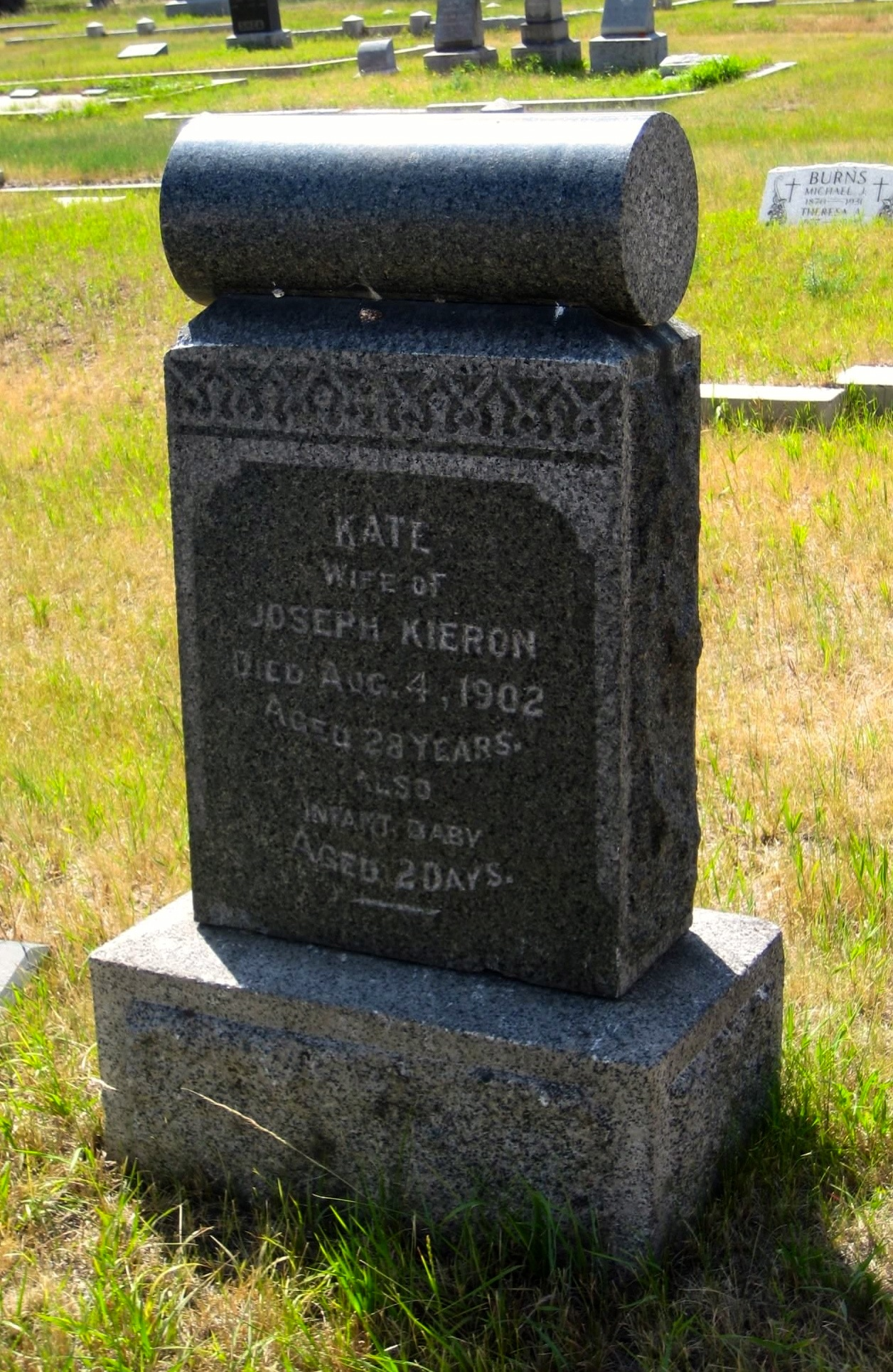 2011 Kate Kieron tombstone