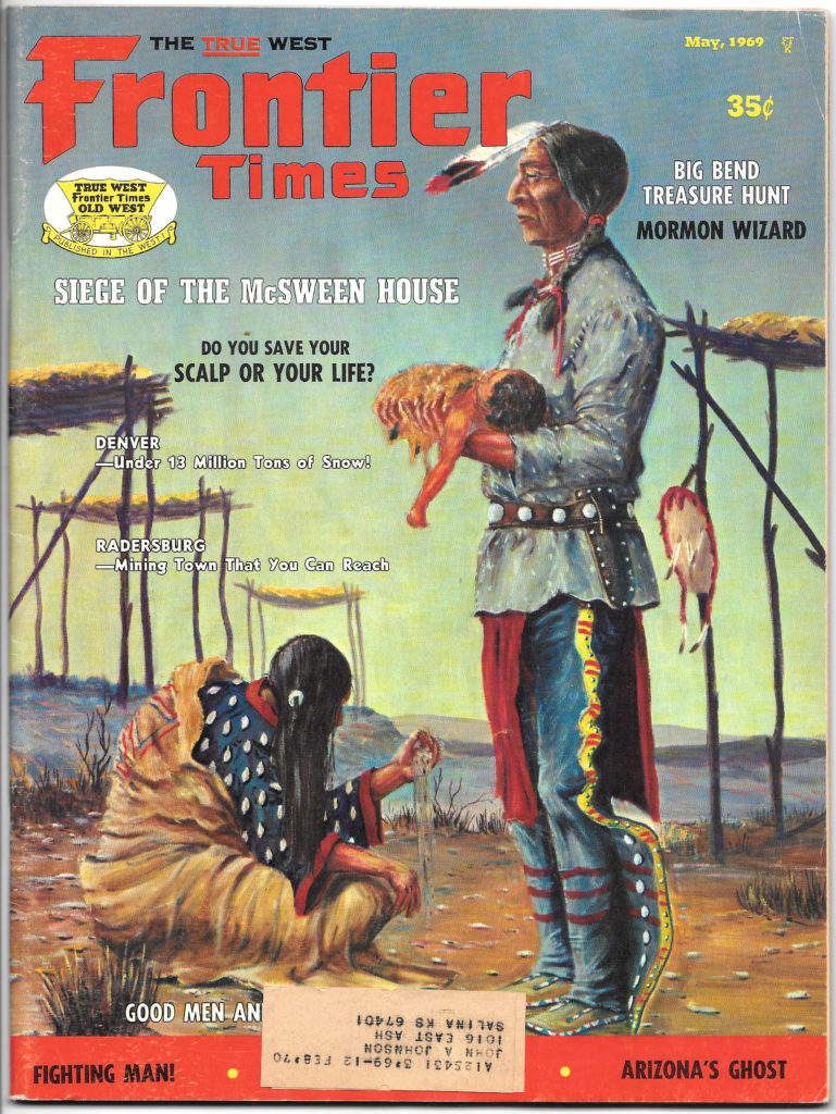 1969 05 00 magazine article_The True West Frontier Times_cover