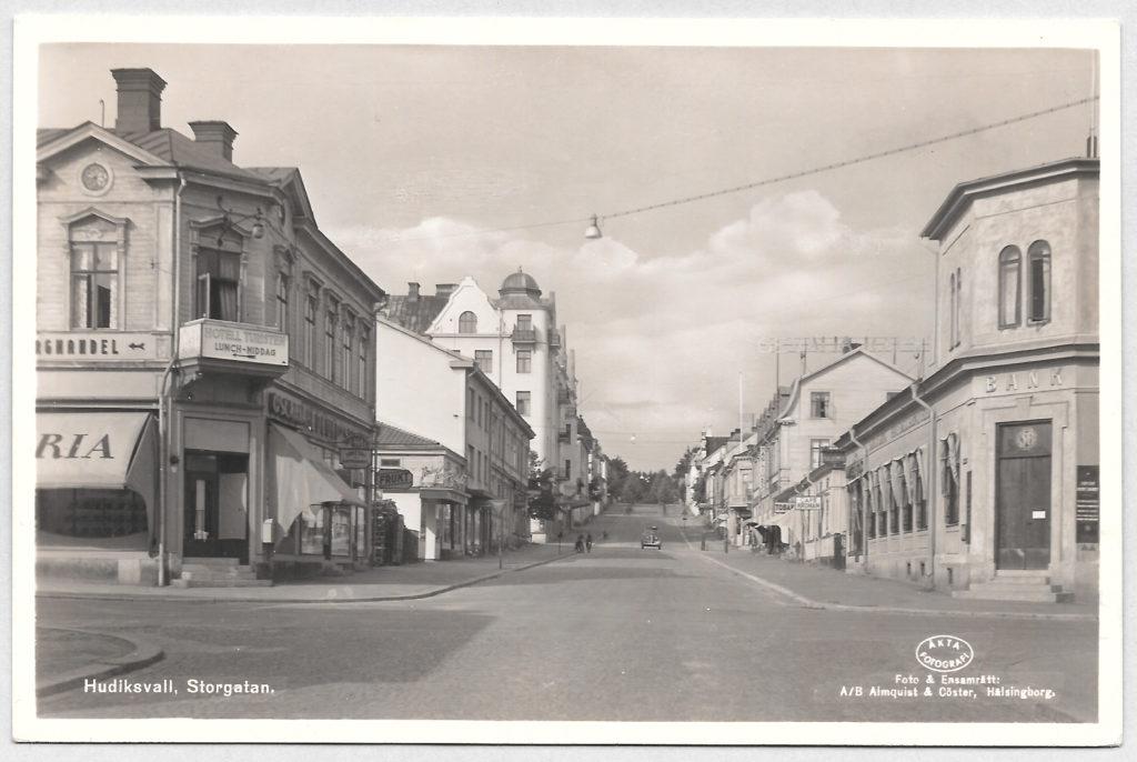 Undated postcard of Hudiksvall, Sweden