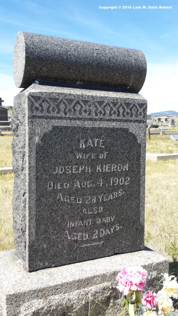 Kate's headstone