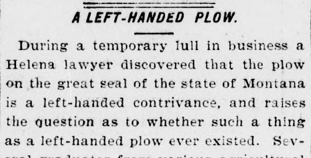 The question of the left-handed plow - Eight Roads to Montana 00887955794